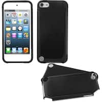 Insten Black Fusion Hard PC/ Silicone Dual Layer Hybrid Case Cover For Apple iPod Touch 5th/ 6th Gen