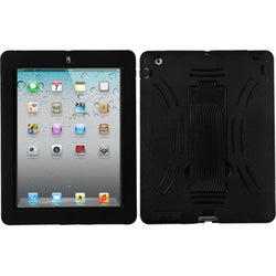 INSTEN Black/ Black Symbiosis Stand Tablet Case Cover for Apple iPad 1/ 2/ 4