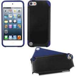 Insten Black/ Dark blue Fusion Hard PC/ Silicone Dual Layer Hybrid Case Cover For Apple iPod Touch 5th/ 6th Gen