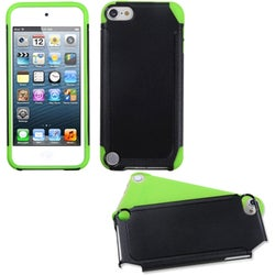 Insten Black/ Neon Green Fusion Hard PC/ Silicone Dual Layer Hybrid Case Cover For Apple iPod Touch 5th/ 6th Gen