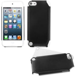Insten Black/ White Fusion Hard PC/ Silicone Dual Layer Hybrid Case Cover For Apple iPod Touch 5th/ 6th Gen