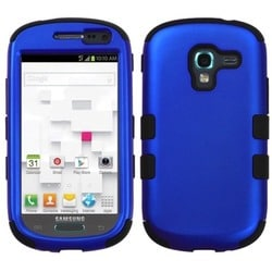 INSTEN Blue/ Black TUFF Hybrid Phone Case Cover for Samsung T599 Galaxy Exhibit