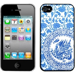 INSTEN Blue/ White/ Porcelain Plate Dream Phone Case Cover for Apple iPhone 4S/