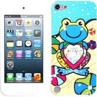 Insten Light Blue Frog Soft Silicone Skin Rubber Case Cover For Apple iPod Touch 5th/ 6th Gen