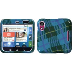 INSTEN Blue/ Plaid Weave Phone Case Cover for Motorola MB511 Flipout