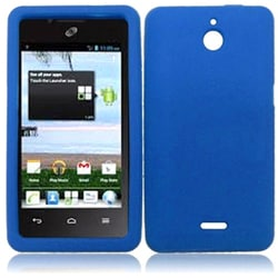 INSTEN Blue Soft Silicone Phone Case Cover for Huawei Ascend Plus H881C