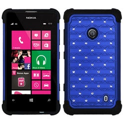 INSTEN Blue/ Black TotalDefense Phone Case Cover for Nokia Lumia 520/ 521