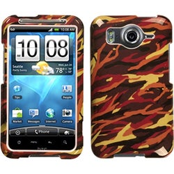 INSTEN Camo/ Yellow Phone Case Cover for HTC Inspire 4G