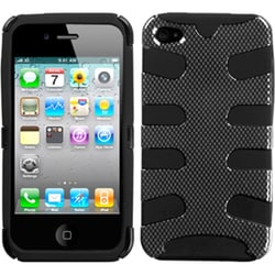 INSTEN Carbon Fiber/ Black Fishbone Phone Case Cover for Apple iPhone 4/ 4S