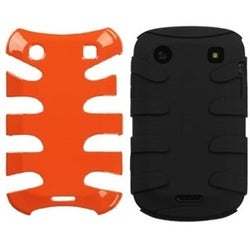 INSTEN Carrot Orange/ Black Phone Case Cover for Blackberry Bold 9930/ 9900