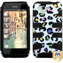 INSTEN Colorful Leopard/ Black Fishbone Phone Case Cover for HTC ADR6330 Rhyme