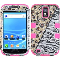INSTEN Diamante/ Pink TUFF Hybrid Phone Case Cover for Samsung T989 Galaxy S2 S II