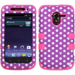 INSTEN Dots/ Electric Pink TUFF Phone Case Cover for ZTE N9120 Avid 4G