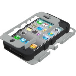 INSTEN Grey/ Black TUFF Hybrid Phone Case Cover for Apple iPhone 4S/ 4