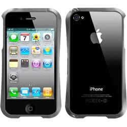INSTEN Grey/ Nitro/ Chrome Surround Shield for Apple iPhone 4S/ 4