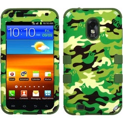 INSTEN Green Woodland Camo/ Army Green TUFF Phone Case Cover for Samsung Galaxy S2