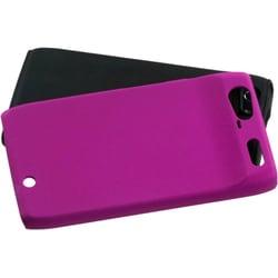 INSTEN Hot Pink Fusion Rubberized Phone Case Cover for Motorola XT912 Droid Razr