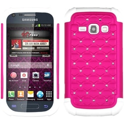 INSTEN Hot Pink/ White TotalDefense Phone Case Cover for Samsung M840 Galaxy Ring