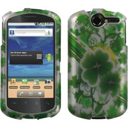 INSTEN Lizzo/ Lucky Clovers/ Silver Phone Case Cover for Huawei U8800 Impulse 4G