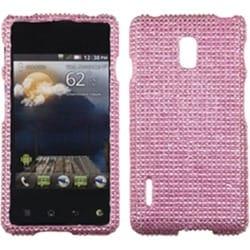 INSTEN Pink Diamante Phone Case Cover for LG US780 Optimus F7