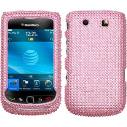 INSTEN Pink Diamante Phone Case Cover for Blackberry Torch 9800/ 9810 4G
