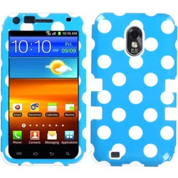 INSTEN Polka Dots/ Solid White TUFF Phone Case Cover for Samsung Galaxy S2