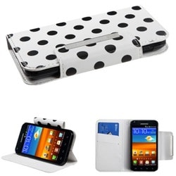 INSTEN Polka Dots/ White Phone Case Cover for Samsung Galaxy S2
