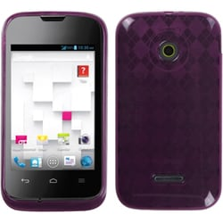 INSTEN Purple Argyle Candy Skin Phone Case Cover for Huawei U8686 Prism II