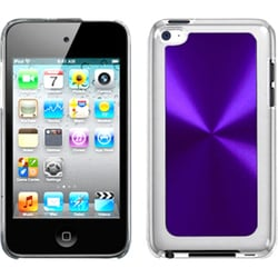 INSTEN Purple Cosmo Back iPod Case Cover for Apple iPod touch 4