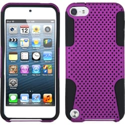 Insten Purple/ Black Mesh Astronoot Hard PC/ Silicone Hybrid Rubberized Matte Case Cover For Apple iPod Touch 5th/ 6th Gen