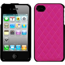 INSTEN Quilted Hot Pink Executive Phone Case Cover for Apple iPhone 4/ 4S