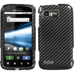 INSTEN Racing Fiber/ Silver Phone Case Cover for Motorola MB865 Atrix 2