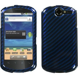 INSTEN Racing Fiber/ Blue/ Silver Phone Case Cover for Huawei U8800 Impulse 4G