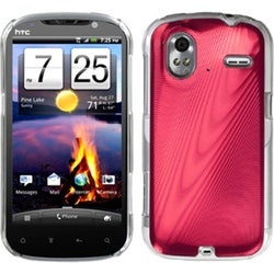 INSTEN Red Cosmo Back Phone Case Cover for HTC Amaze 4G