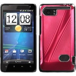 INSTEN Red Cosmo Back Phone Case Cover for HTC Vivid
