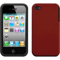 INSTEN Red Fusion Phone Case Cover for Apple iPhone 4S/ 4