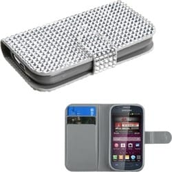 INSTEN Silver Diamonds Phone Case Cover for M840 Galaxy Ring