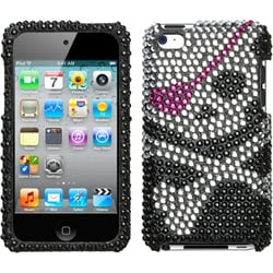 INSTEN Skull Diamante iPod Case Cover for Apple iPod Touch 4th Generation