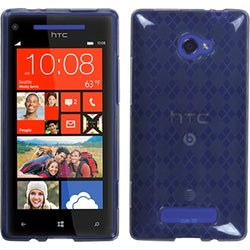 INSTEN Smoke Argyle Candy Skin Phone Case Cover for HTC Windows Phone 8X