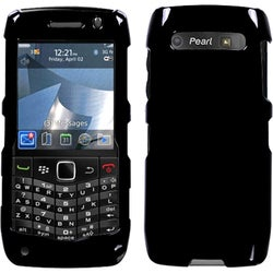 INSTEN Solid Black Phone Case Cover for Blackberry 9100 Pearl 3G