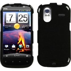 INSTEN Solid Black Phone Case Cover for HTC Amaze 4G