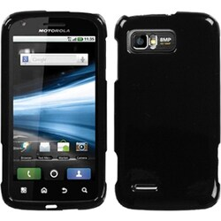 INSTEN Solid Black Phone Case Cover for Motorola MB865 Atrix 2