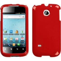 INSTEN Solid Flaming Red Phone Case Cover for Huawei M865 Ascend II/ U8651S Summit