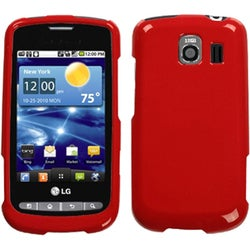 INSTEN Solid Flaming Red Phone Case Cover for LG VS660 Vortex