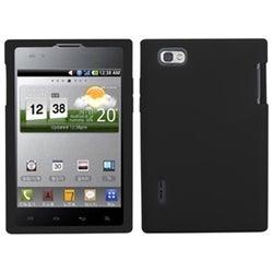 INSTEN Solid Black Skin Phone Case Cover for LG VS950 Optimus Vu/ VS950 Intuition