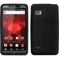 INSTEN Solid Black Skin Phone Case Cover for Motorola XT875 Droid Bionic