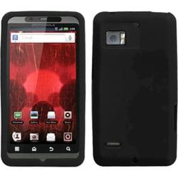 INSTEN Solid Black Skin Phone Case Cover for Motorola XT875 Droid Bionic