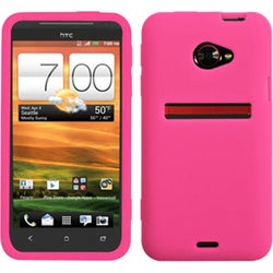 INSTEN Solid Hot Pink Skin Phone Case Cover for HTC EVO 4G LTE