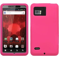 INSTEN Solid Hot Pink Skin Phone Case Cover for Motorola XT875 Droid Bionic