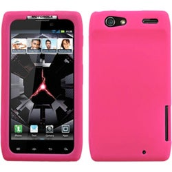INSTEN Solid Hot Pink Skin Phone Case Cover for Motorola Droid Razr